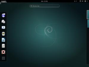 Le bureau GNOME sous Debian 8.0